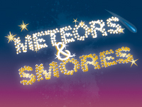 Meteors and smores graphic