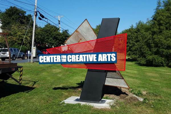 Bell designed and built this sign that's installed in Yorklyn.
