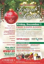 Promenade Festival of Lights Tree Lighting  Photos with Santa - start Dec 01 2017 0500PM
