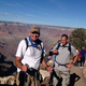 Mayor-elect Jim Riding stands in front of his son Seth after hiking the Grand Canyon. Riding prepared for a year, which included a few half-marathons, to complete the hike. (Courtesy Kathe Riding)