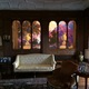 Family friend Maxfield Parrish painted a mural to hang in the organ pipe alcove.