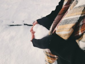 Medium hand holding winter