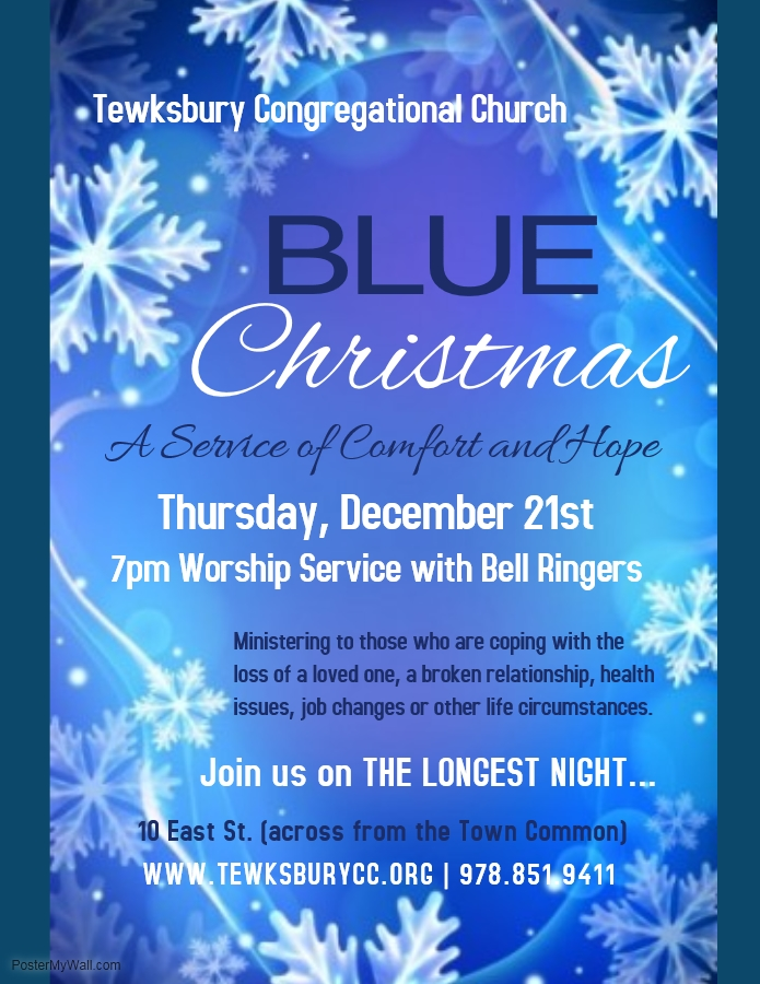 a service of comfort and hope - Blue Christmas Service