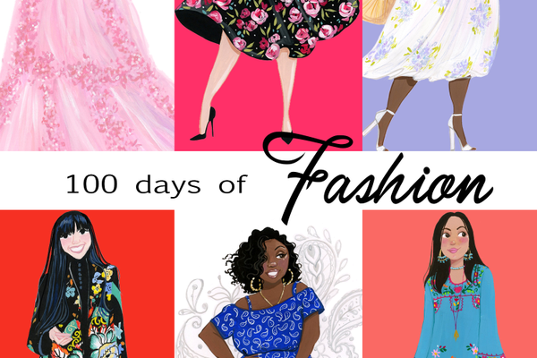The '100 Days of Fashion' project highlights women of all sizes and ethnicities.