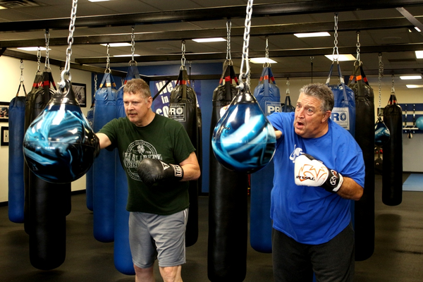 Terry Kennelly and Rick Frederick at Fit 4 Boxing Club