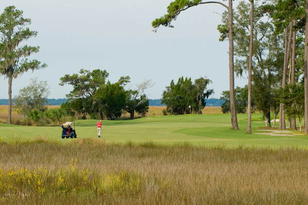 The King and Prince Golf Course's 13th hole plays off an island surrounded by marsh. Photo courtesy of The King and Prince Beach Resort.