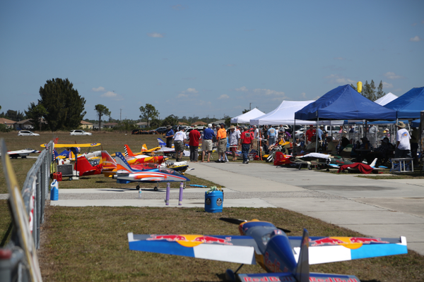 "During the club's annual ""Gathering of the Giants,"" dozens of replica aircraft are on view at the park. Photo courtesy of R/Sea Hawks Cape Coral Flying Club."