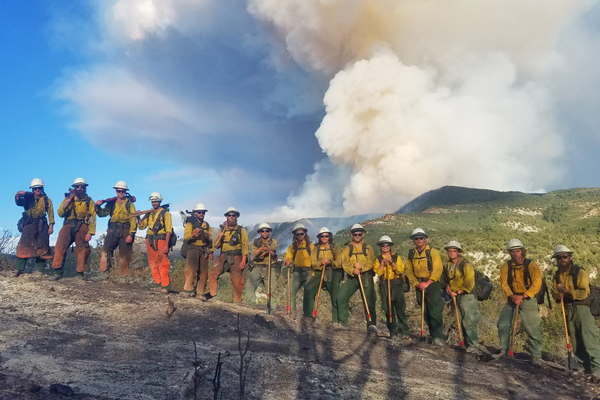 Firefighters from across the state raced to California to help battle the state's wildfires. (Photo/Brad Kurtz,Twin Peak T2IA Crew Member, Utah)