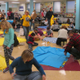 The cafeteria and surrounding hallways at Unionville Elementary were filled with quiltmakers.