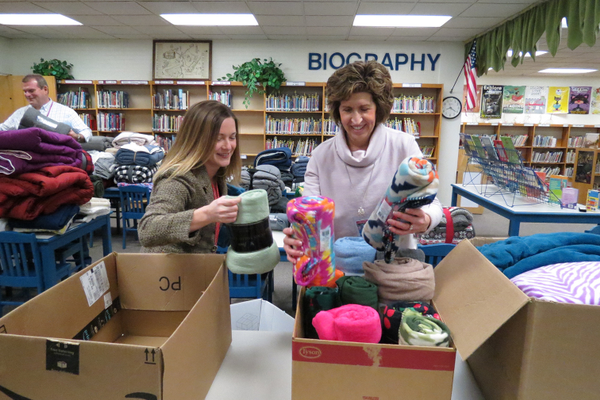 FCEA Collects Blankets to  Help Less Fortunate