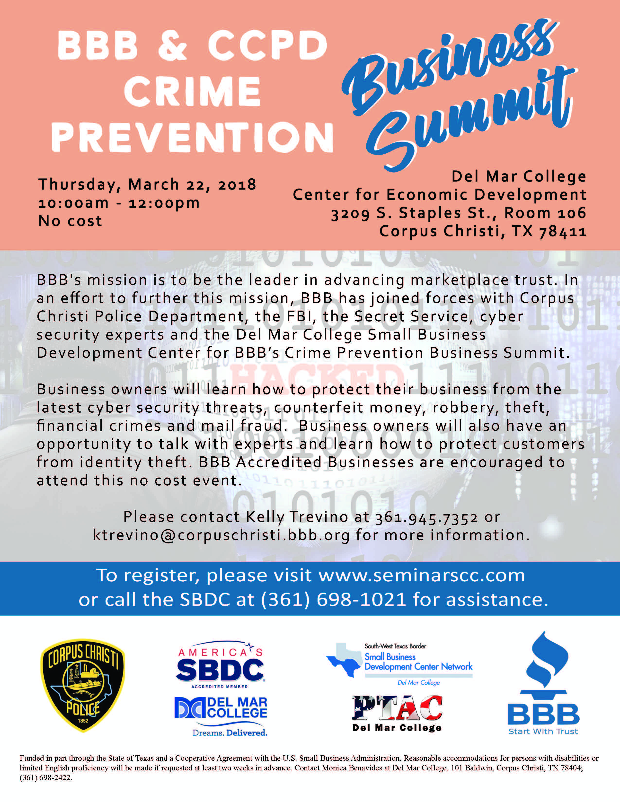 Flyer 20  20bbb 20  20ccpd 20crime 20prevention 20business 20summit 202018.03.22