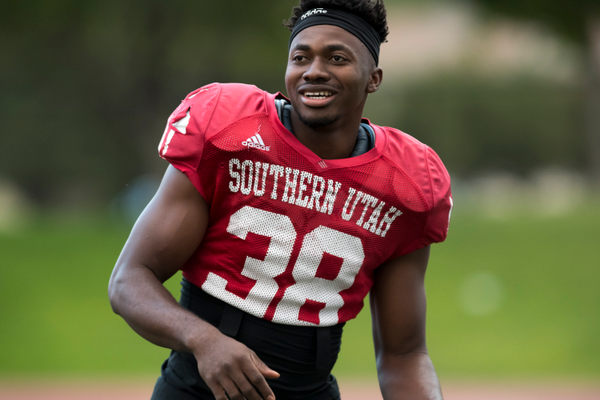 "Somtochukwu ""Sommy"" Achebo was a redshirt freshman on the SUU football team. (Anita Bunker/SUU)"