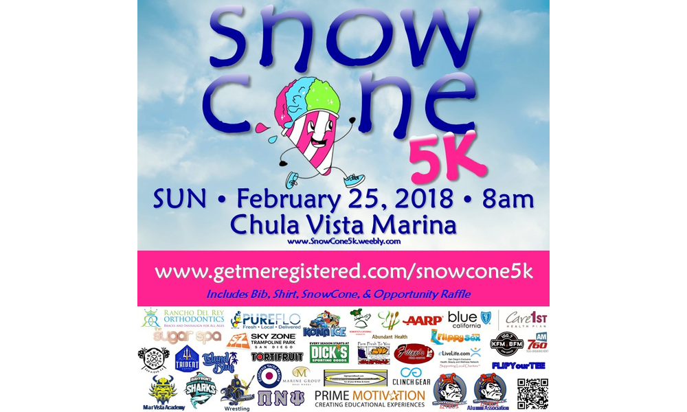 Support Mar Vista Academy At The Snowcone 5k This Sunday February