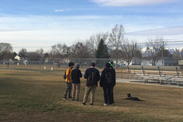 Youth hanging out at a park near a local high school during the school day. Students may be given interventions instead of being referred directly to the juvenile justice system for ditching school. (City Journals)