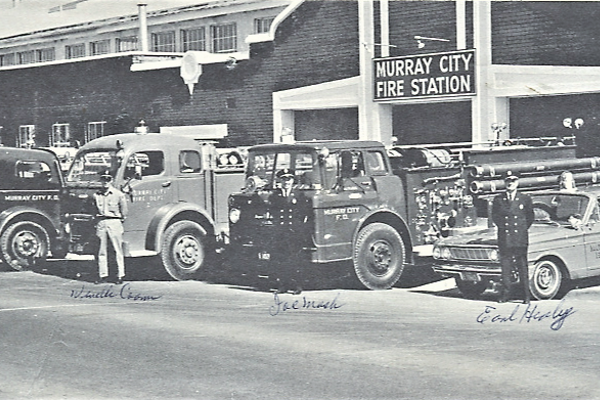The Murray City Fire station was the scene of a controversial heavyweight fight. (Photo/Murray City Museum)