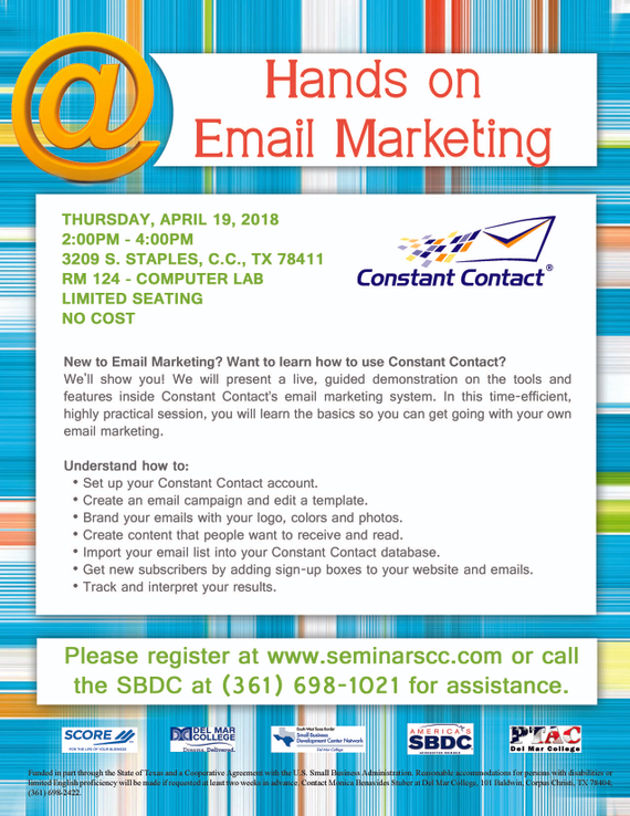 Revised 20flyer 20  20hands 20on 20email 20marketing 202018.04.19