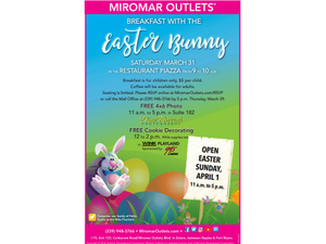 Breakfast with the Easter Bunny at Restaurant Piazza - start Mar 31 2018 0900AM