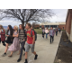 Brighton High students leave their classrooms to show support for safer schools at a student-led walkout. (Julie Slama/City Journals)