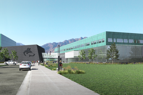 The new Hillcrest, Brighton and Alta High Schools will have security vestibules like other recently built schools as well as hallways with clear lines of sight to entrances. (Canyons School District)