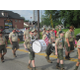 Local Scout troops marched together.