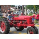 Vintage tractors were part of the parade through West Grove.
