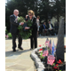 Vicki Dash-Slesinski and Domenico Ruffini lay the memorial wreath.