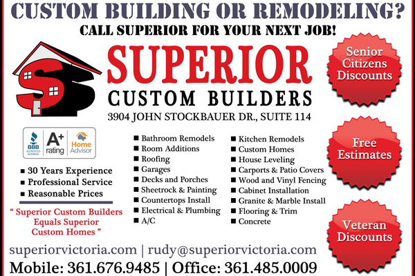 Superior 20custom 20builders 20  20vc 20  20june july 202018
