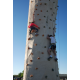 Kids get their rock on by climbing the rock wall. (Keyra Kristoffersen/City Journals)