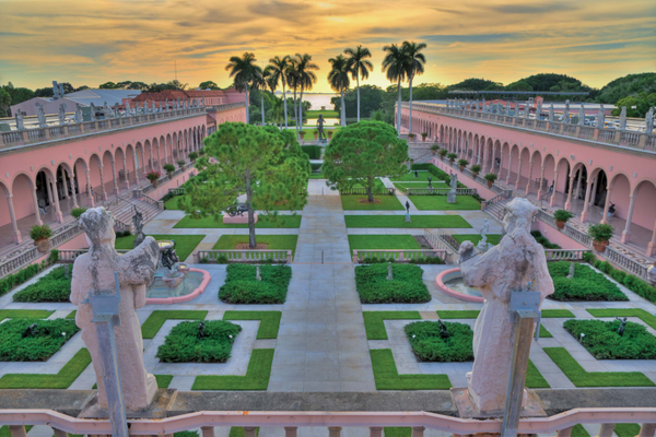 The courtyard at The Ringling's Museum of Art is a work of art itself. Photo courtesy of Ringling Museum.