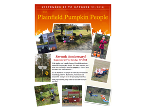 Plainfield Pumpkin People 2018 - start Sep 23 2018 1200AM