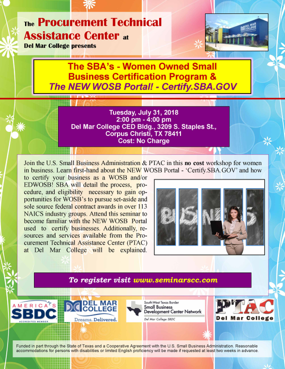 PTAC: The SBA's - Women Owned Small Business Certification