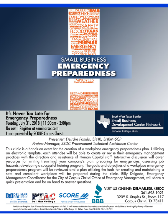 Flyer 20  20its 20never 20too 20late 20for 20emergency 20preparedness 207.31.2018