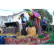 Jack Sparrow waves from a float for First National Bank. (Travis Barton/City Journals)