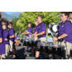 Drummers in the Riverton High School marching band let loose their percussionist talents. (Travis Barton/City Journals)