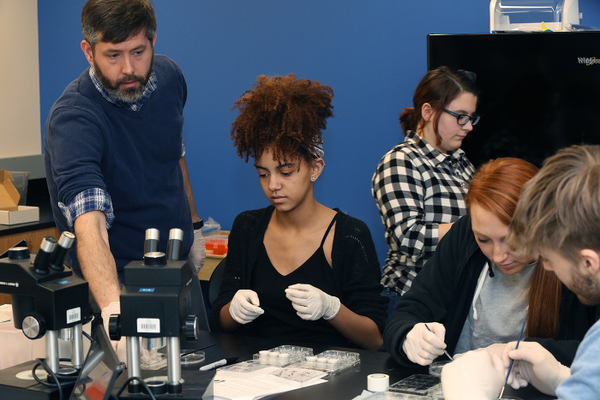 Many of Thiel College's science students will work in the new microscope lab in the Haer Family Science and Arts Connector.