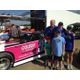 Matt Miley of PPMS shows fans the Pink Panther car.