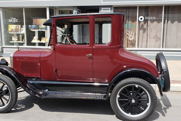 A 1927 Model T Coupe owned by Jeff Norford of Mechanicsburg, PA