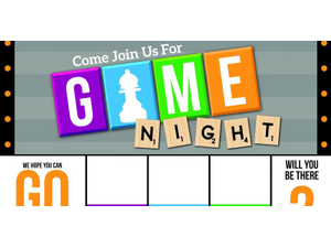 Adult only Game Night - start Aug 31 2018 0700PM
