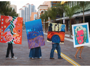 Art Walk organizers kicked off the downtown Fort Myers event in October 2008
