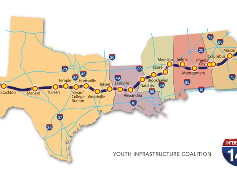 I 20 Louisiana Map.New Interstate Proposed Through Central Louisiana Parish News
