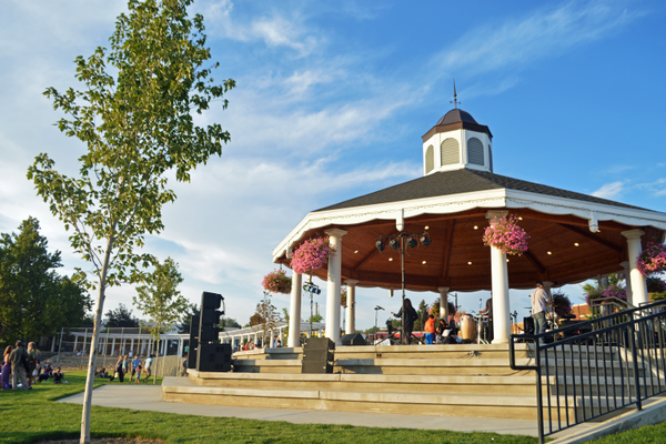 The pavilion housed all the live music for the festival.