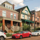 A row of PHLF-restored houses on Jeanette Street in the Hamnett Place neighborhood a National Register-listed Historic District in Wilkinsburg