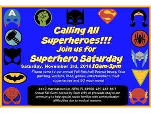 North Fort Myers Superhero Fall Festival - start Nov 03 2018 1000AM