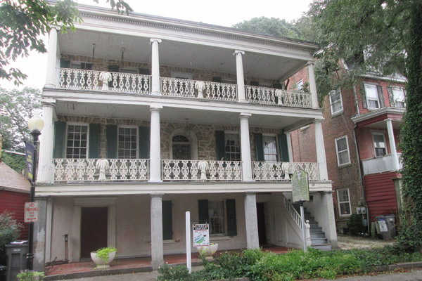Built in 1813, the Gerry House welcomed Gen. Lafayette in 1824. The iron railings, embelished with sheaves of wheat between lyres, were a nod to the farming roots of onetime owner Cornelius Smith.