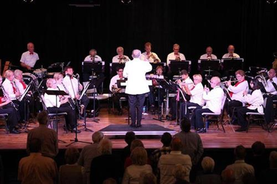 Concert band performs big arts sanibel fl