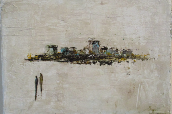 'On the Periphery,' a small painting by Sus Iserbyt.