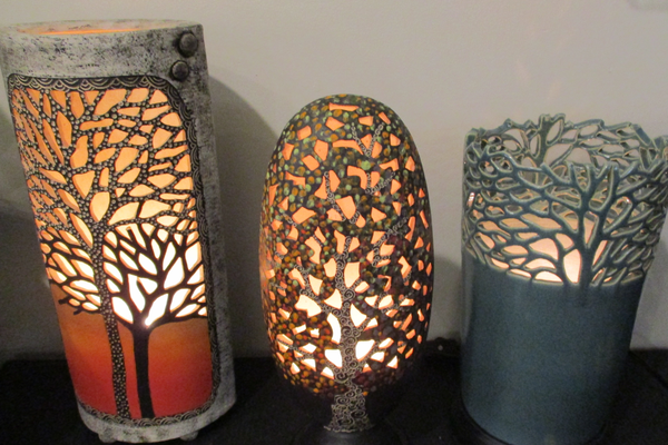 Lamps by Ki Crittenden are a tradition at the annual gift show.