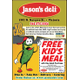 Kids Eat for Free at Jasons Deli in Victoria With This Coupon