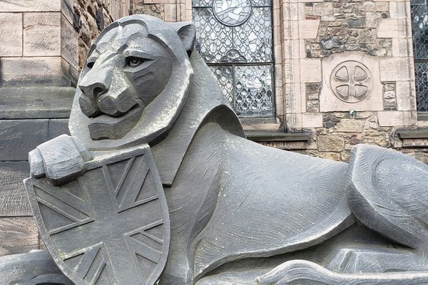 The lion guarding Edinburgh Castle