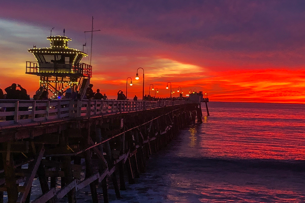 #38 - Local dining at the pier. The best sunset we ever have seen!   Steve Wallace